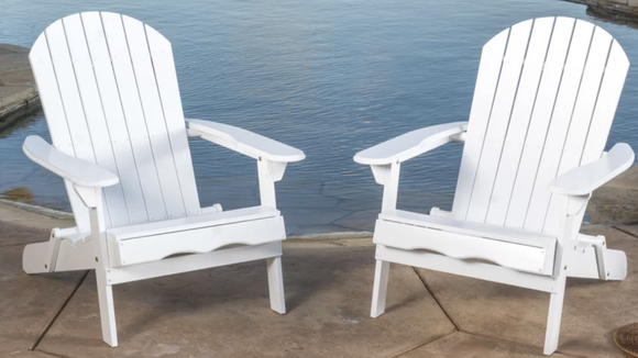An Adirondack Chair Pair For Outdoor Chilling