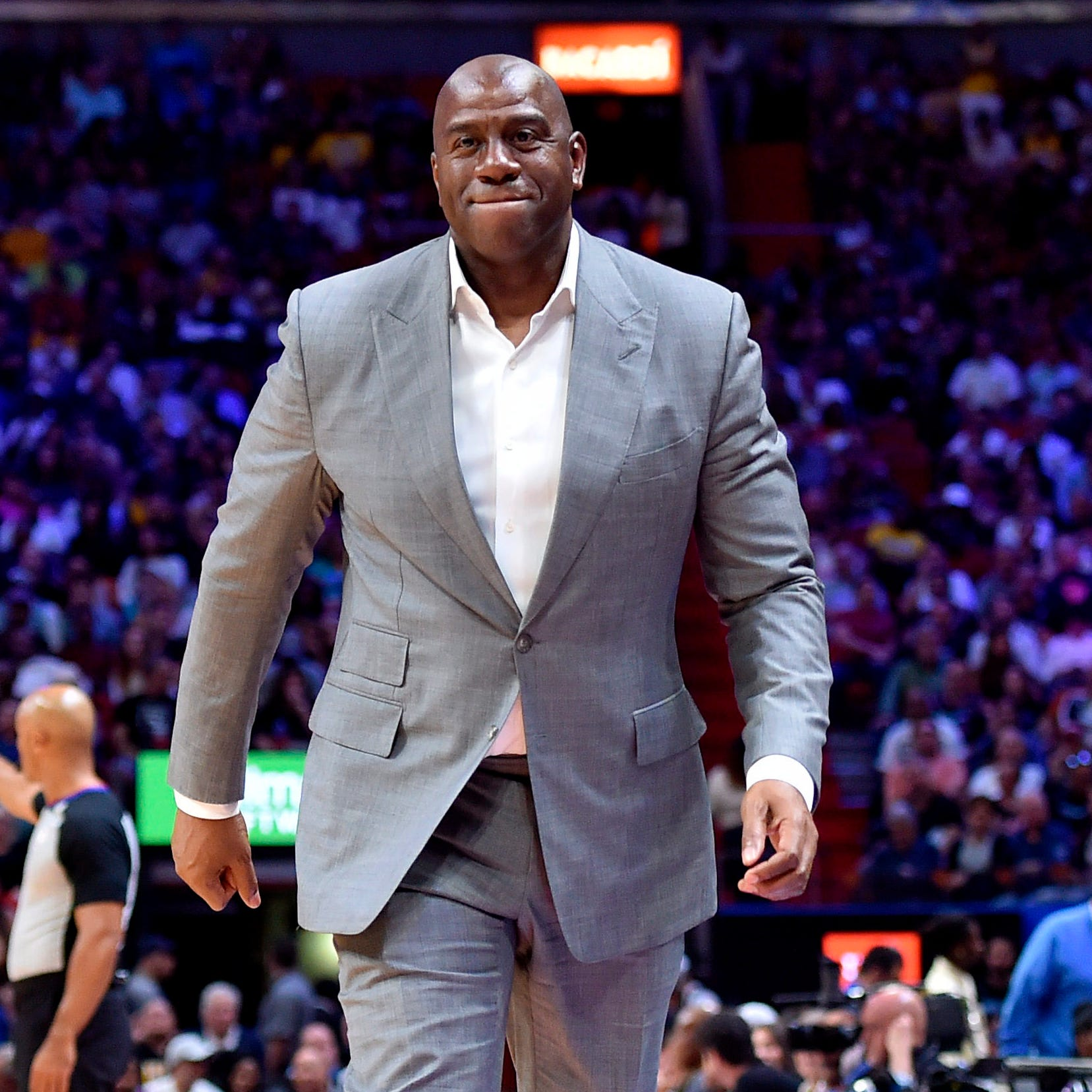 Magic Johnson stepped down as Lakers president...