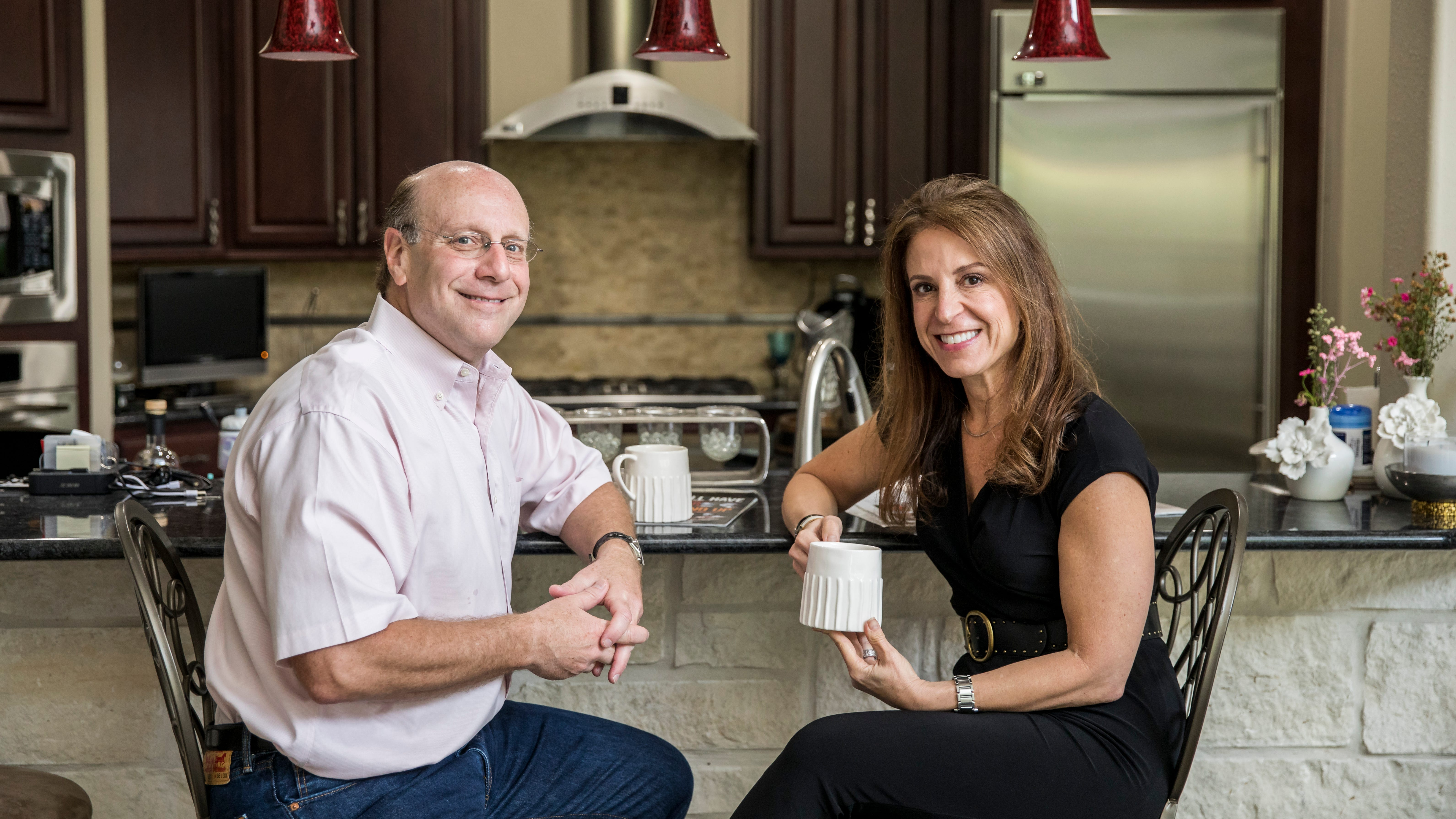 Jeff and Shelly Levy plan to stay in their 3,900-square-foot four-bedroom house in the Memorial section of Houston.