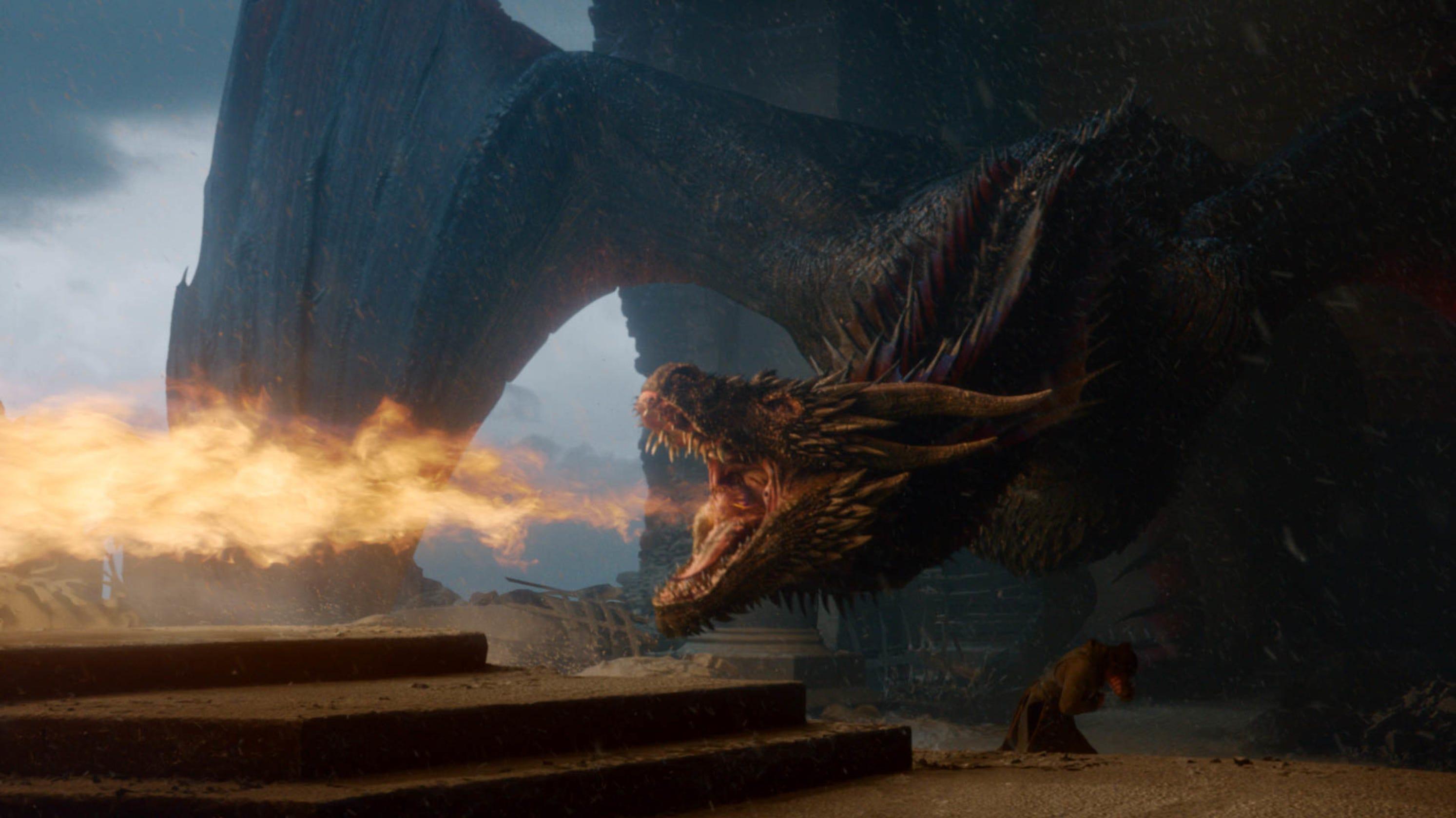 Game of Thrones Drogon quema el trono