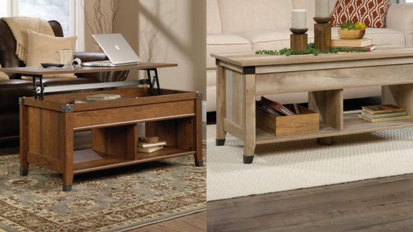Get storage and a desk alongside your coffee table.
