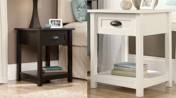 This basic side table will work in any bedroom.