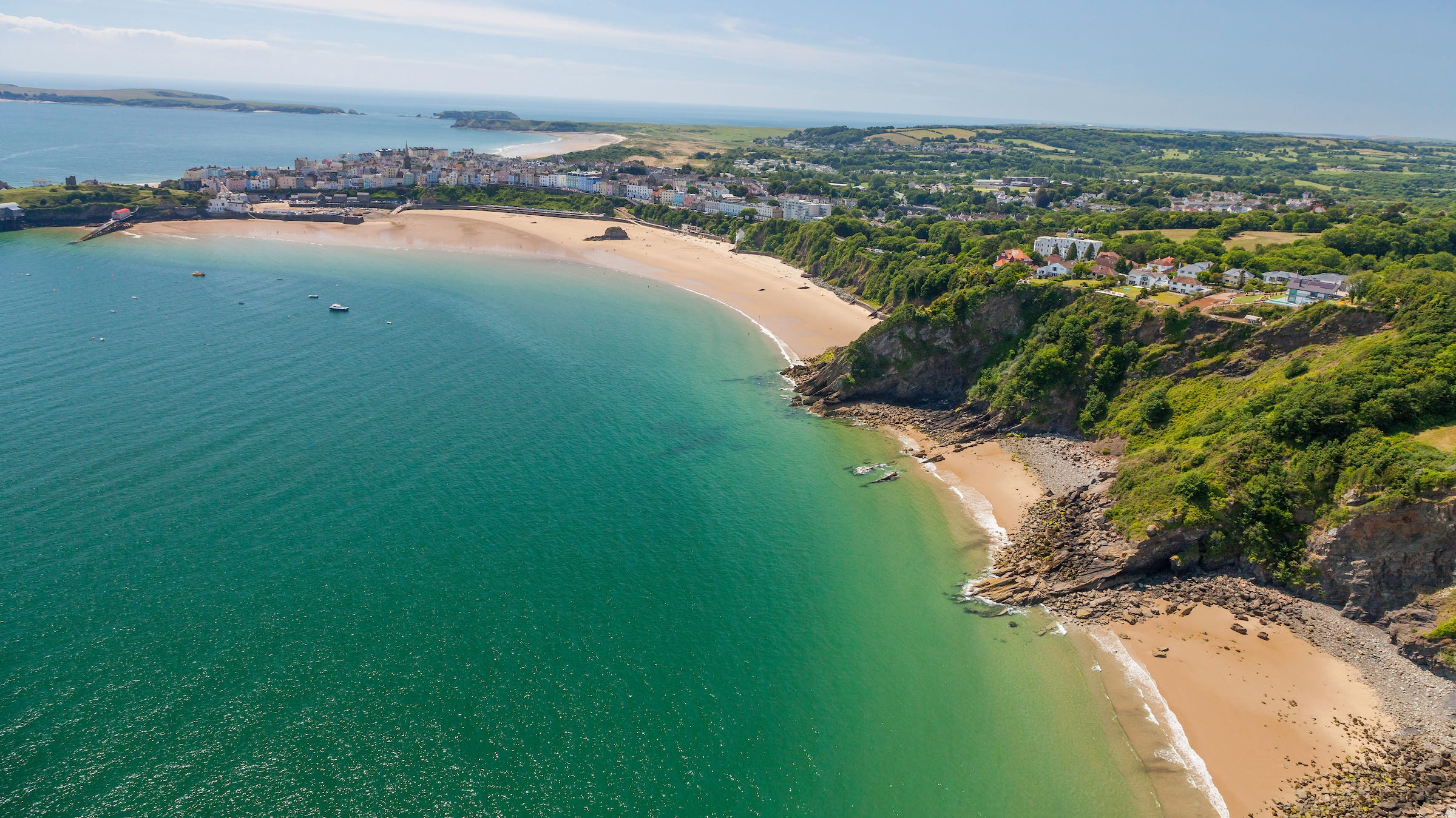 """The seaside resort of Tenby has two beaches, a castle, a tiny harbor and a couple of islands. The Georgian-era Lexton House was used in the Dylan Thomas biopic """"The Edge of Love"""" and the BBC's """"Vanity Fair."""""""