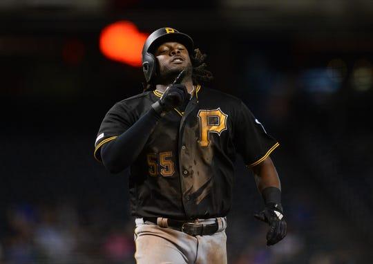 Josh Bell has slugged 14 homers with 44 RBI this season.