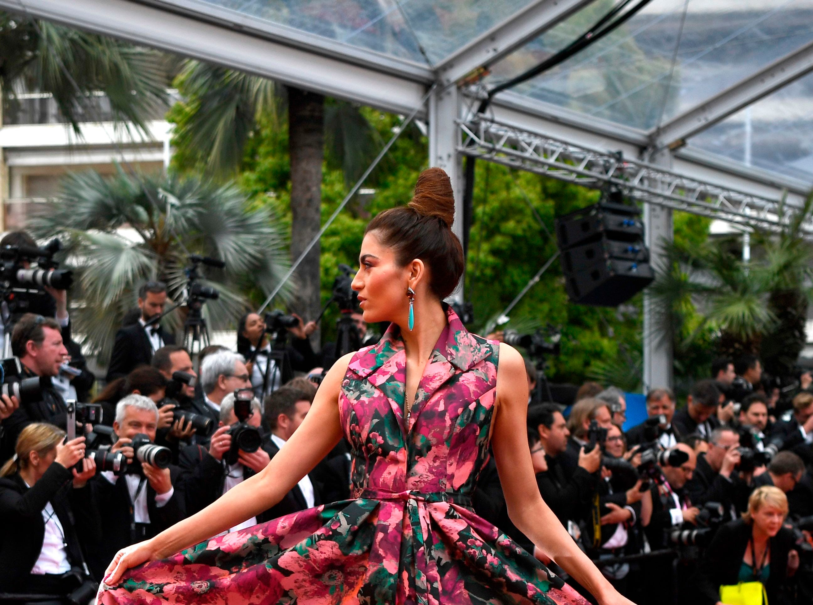 """Blanca Blanco arrives for the screening of the film """"La Belle Epoque"""" at the 72nd edition of the Cannes Film Festival in Cannes, France."""