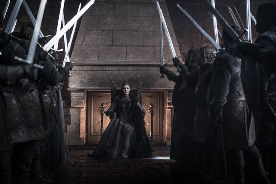 "Sansa Stark (Sophie Turner) gets a throne of her own in the ""Game of Thrones"" finale."