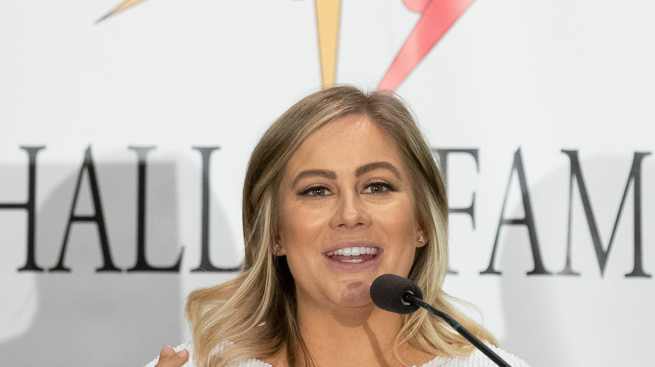 Shawn Johnson announced that her and her husband were expecting in April.