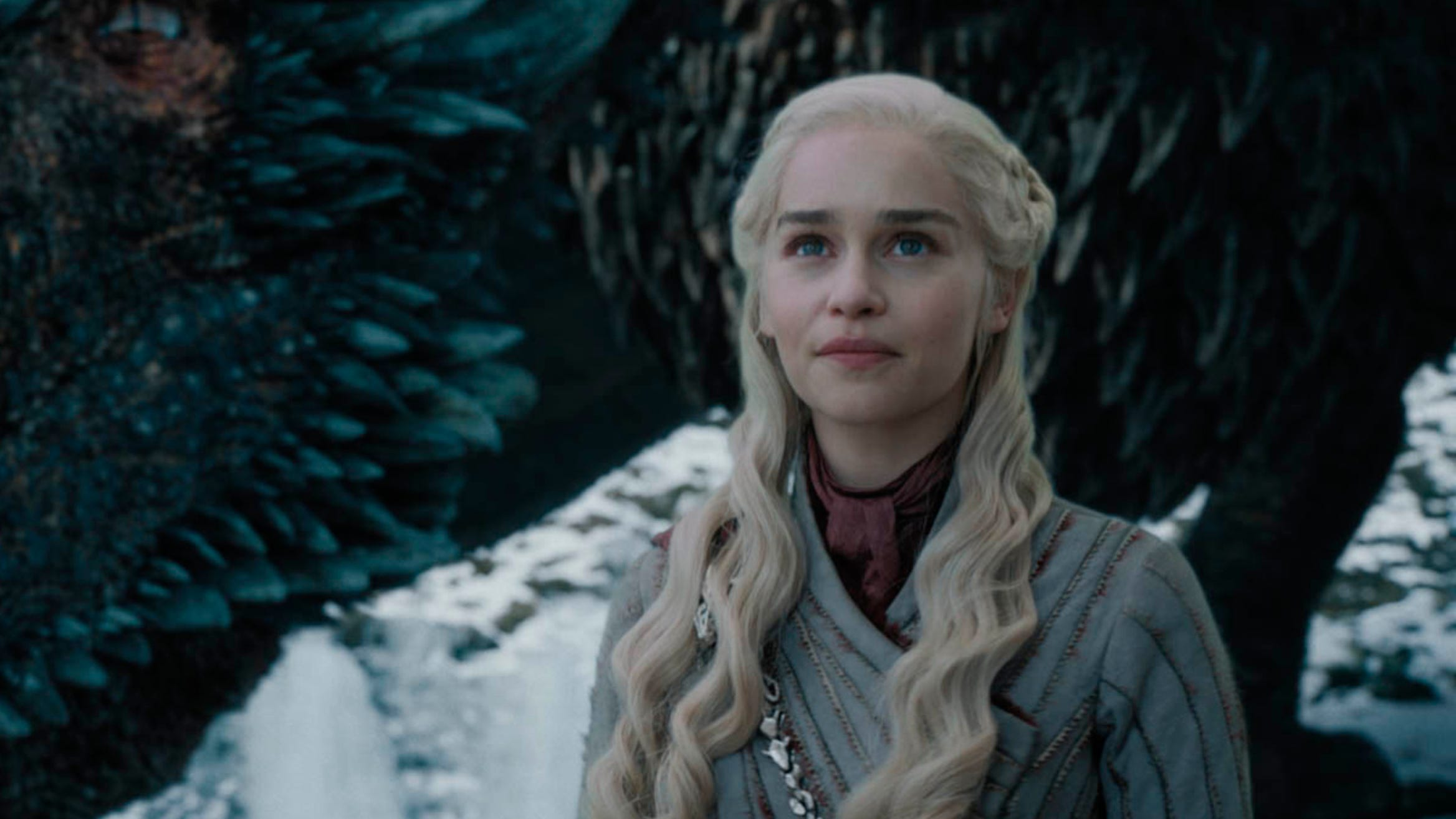 """Emilia Clarke in a scene from HBO's """"Game of Thrones,"""" which aired May 5, 2019."""