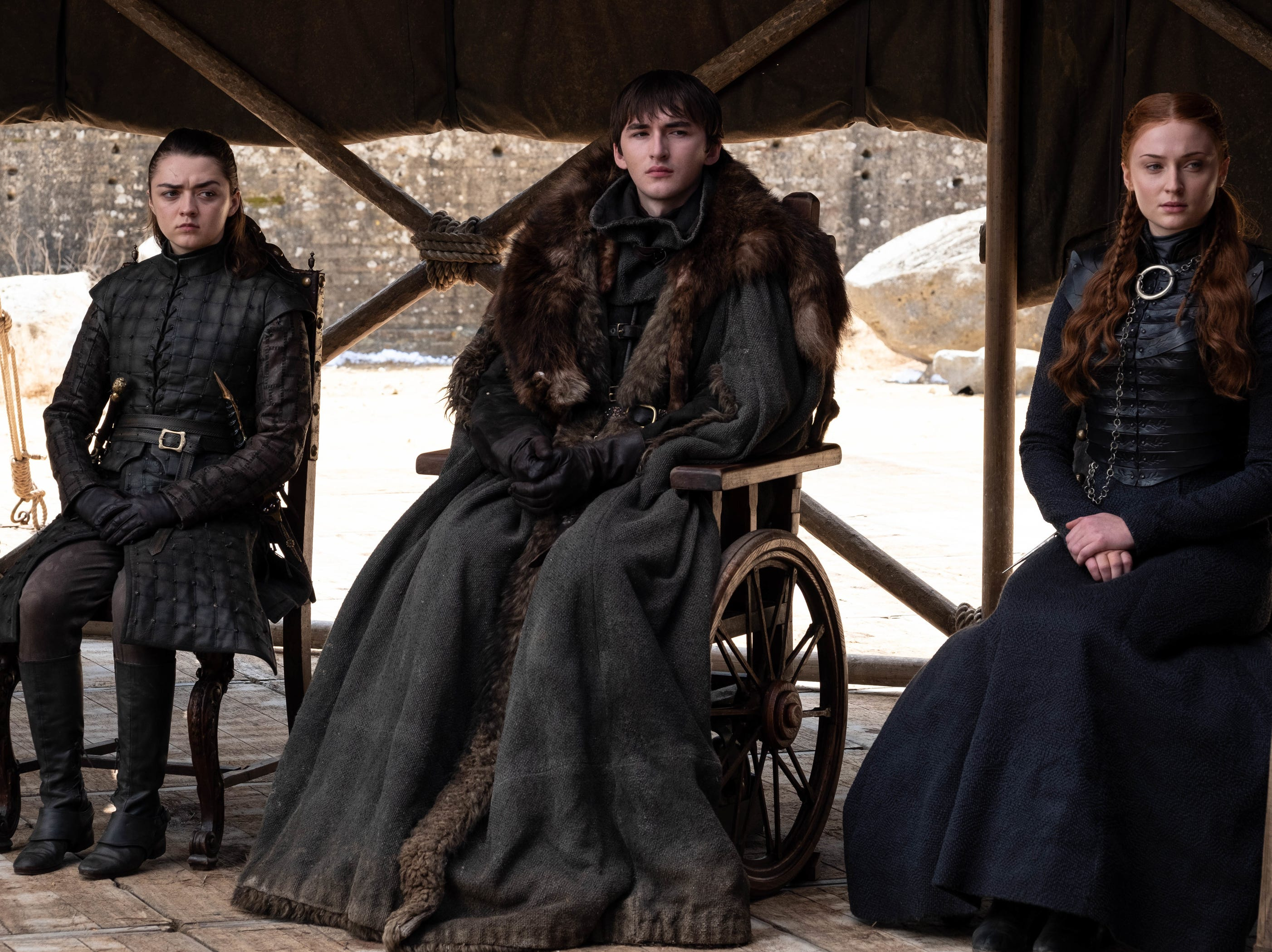 The Starks - Arya (Maisie Williams), left, Bran (Isaac Hempstead Wright) and Sansa (Sophie Turner) - all play significant roles in the hit show's resolution.