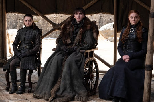 The Starks – Arya (Maisie Williams) Bran (Isaac Hempstead Wright) and Sansa (Sophie Turner) – all play significant roles in the hit show's resolution.