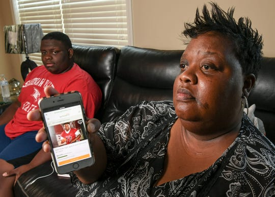 "Nemesha Stowers, of Anderson, mother of Malik Stowers, a sophomore from Westside High School who found out May 1 he has Acinic Cell Carcinoma, a rare form of cancer and needs treatment, shows a GoFundMe page for him. It says ""Stowers is a model son, student, brother, and athlete. He is committed to working hard and being his best all around. He strives to be a role model to his sister, support/help  to his mother, Nemesha Stowers,  who is raising them on her own, and is so loved by his peers and teachers."""