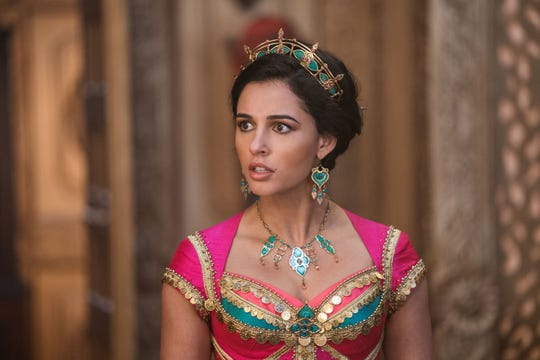 "Naomi Scott is Jasmine in Disney's live-action ""Aladdin,"" directed by Guy Ritchie."