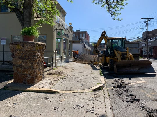 Workers have begun a project to improve the area around White Street and English Plaza in Red Bank.