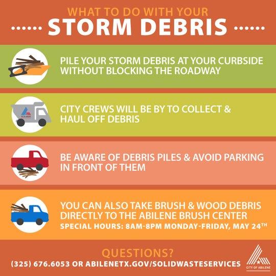 City of Abilene storm debris guide.