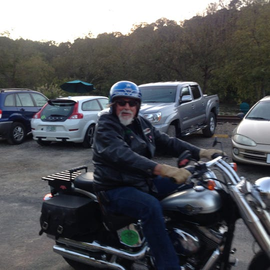 Michael Bowman on one of his beloved motorcycles. Bowman, 61, who was passionate about motorcycles, old cars and helping his friends, died Sunday, May 19, 2019, in a wreck.