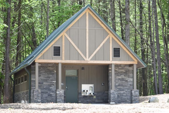 A new flush toilet restroom will open to the public May 23 at the Hooker Falls access area in DuPont State Recreational Forest.