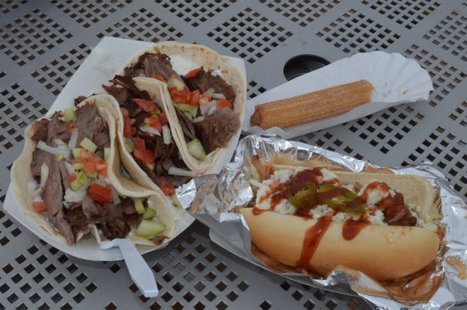 On Food Truck Fridays in downtown Battle Creek, you will have some diverse choices, such as Turko Tacos, the Bomba Dog or Churros.