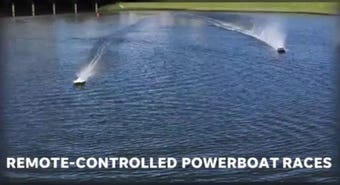 Watch: Remote-controlled powerboat racing at Port Canaveral's Exploration Tower for Thunder on Cocoa Beach