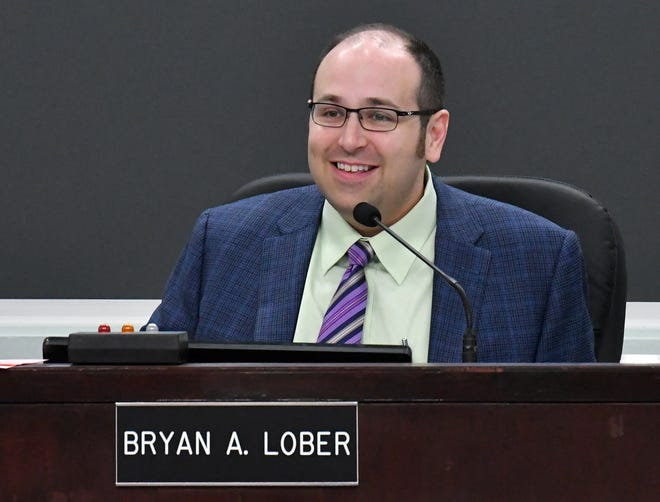The May 21 Brevard County Commission meeting in Viera. Vice Chair Bryan Lober was in charge at this meeting since Chair Kristine Isnardi is attending a graduation ceremony out of state.