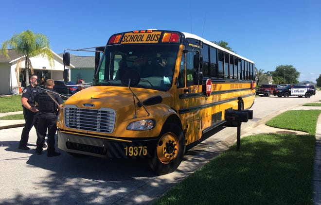 Four children were taken to the hospital after a school bus crash Tuesday afternoon.