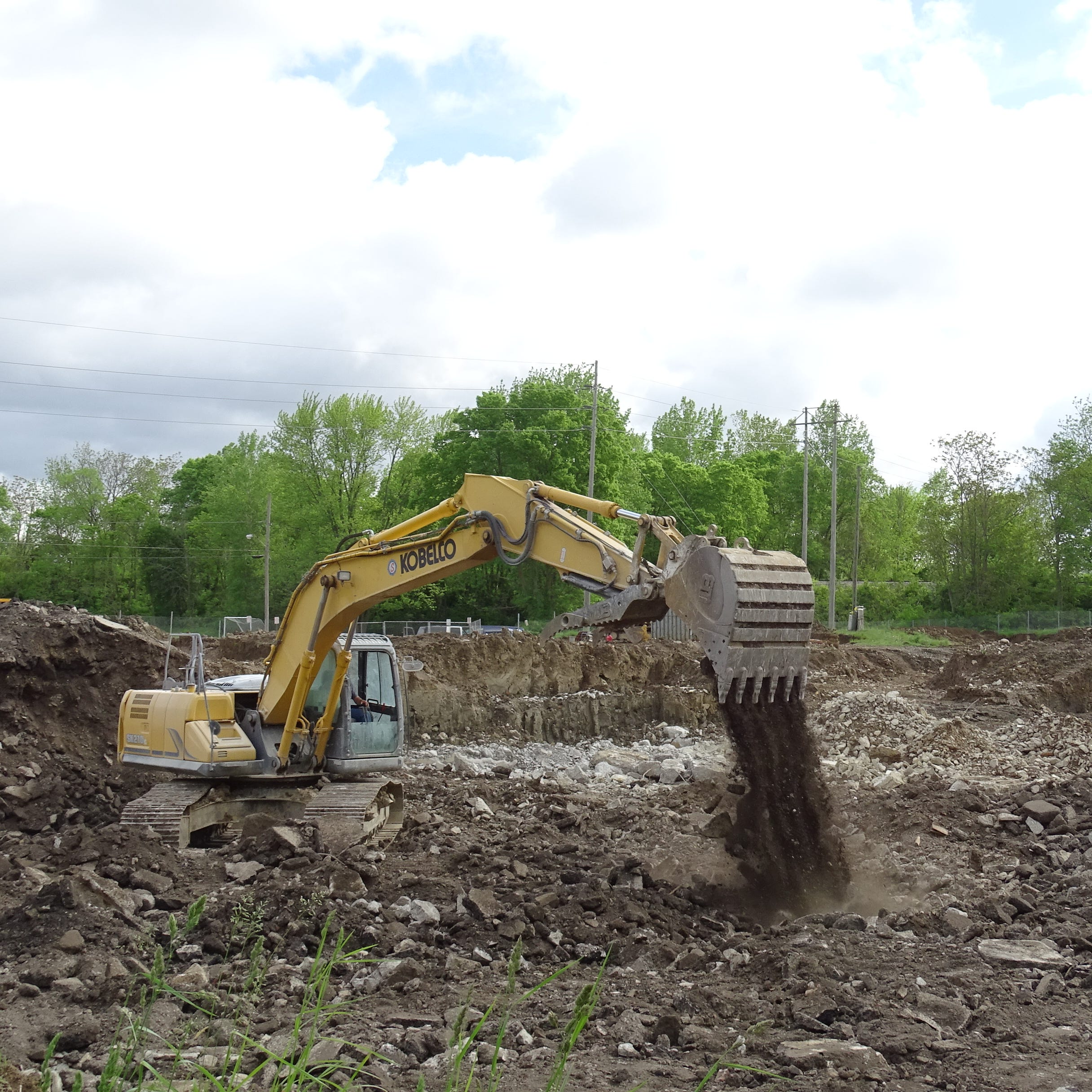 Site work continues at former water plant