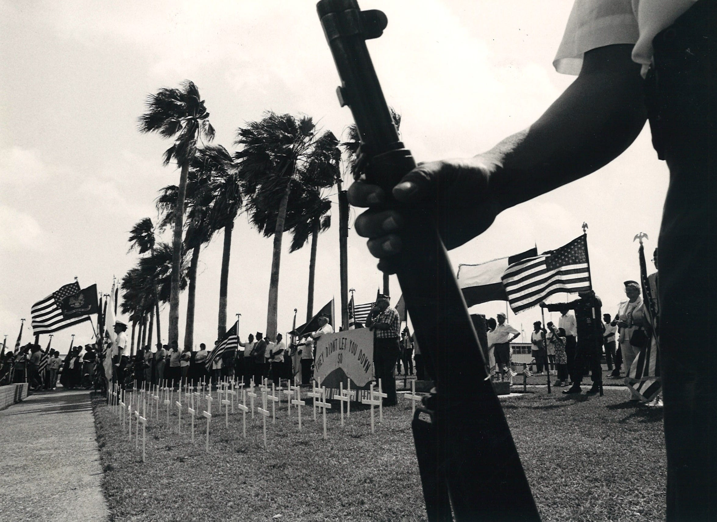 Memorial Day ceremonies at Sherrill Park in Corpus Christi on May 30, 1988.