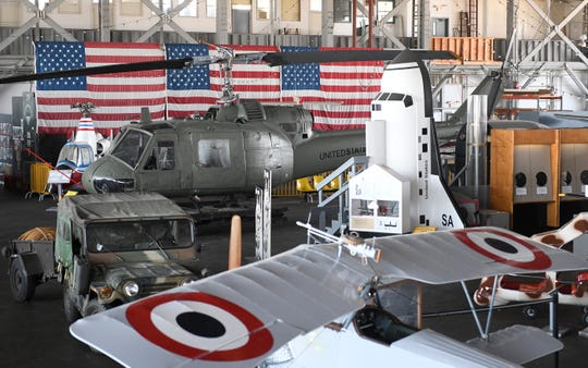 Aviation memorabilia on display at the Naval Air Station Wildwood Aviation Museum at the Cape May Airport in Lower Township.