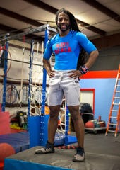 "James Wilson, 33, built the Nati Ninja Obstacle Course and Training Center in Blue Ash nearly two years ago to train for NBC's ""American Ninja Warrior."""