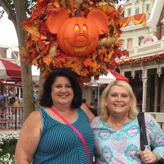 Liana Schaefer with Denise Smith at Disney World