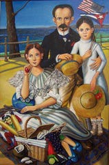 """Jose Rodeiro's """"Picnic at Bath Beach"""" is among the works featured in """"Place: The Locus of Memory"""" through May 31 at The Gallery Space in Rahway."""