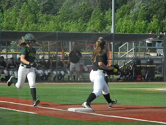 Montgomery vs. South Brunswick softball in the Central Group IV quarterfinals on Monday, May 20, 2019.