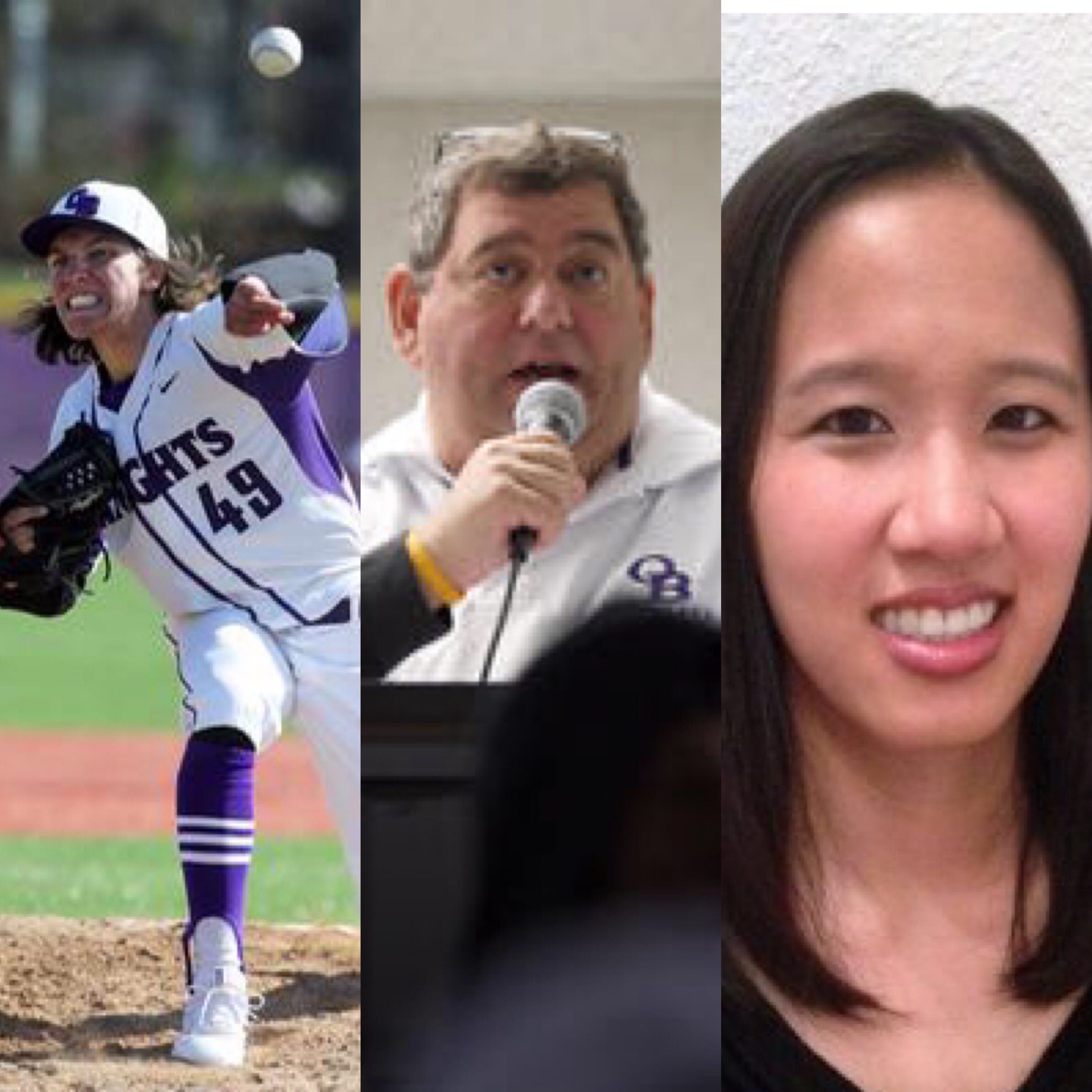Zach Attianese, Ron Mazzola and Natalie Leong were inducted to the Old Bridge Wall of Fame on Monday night