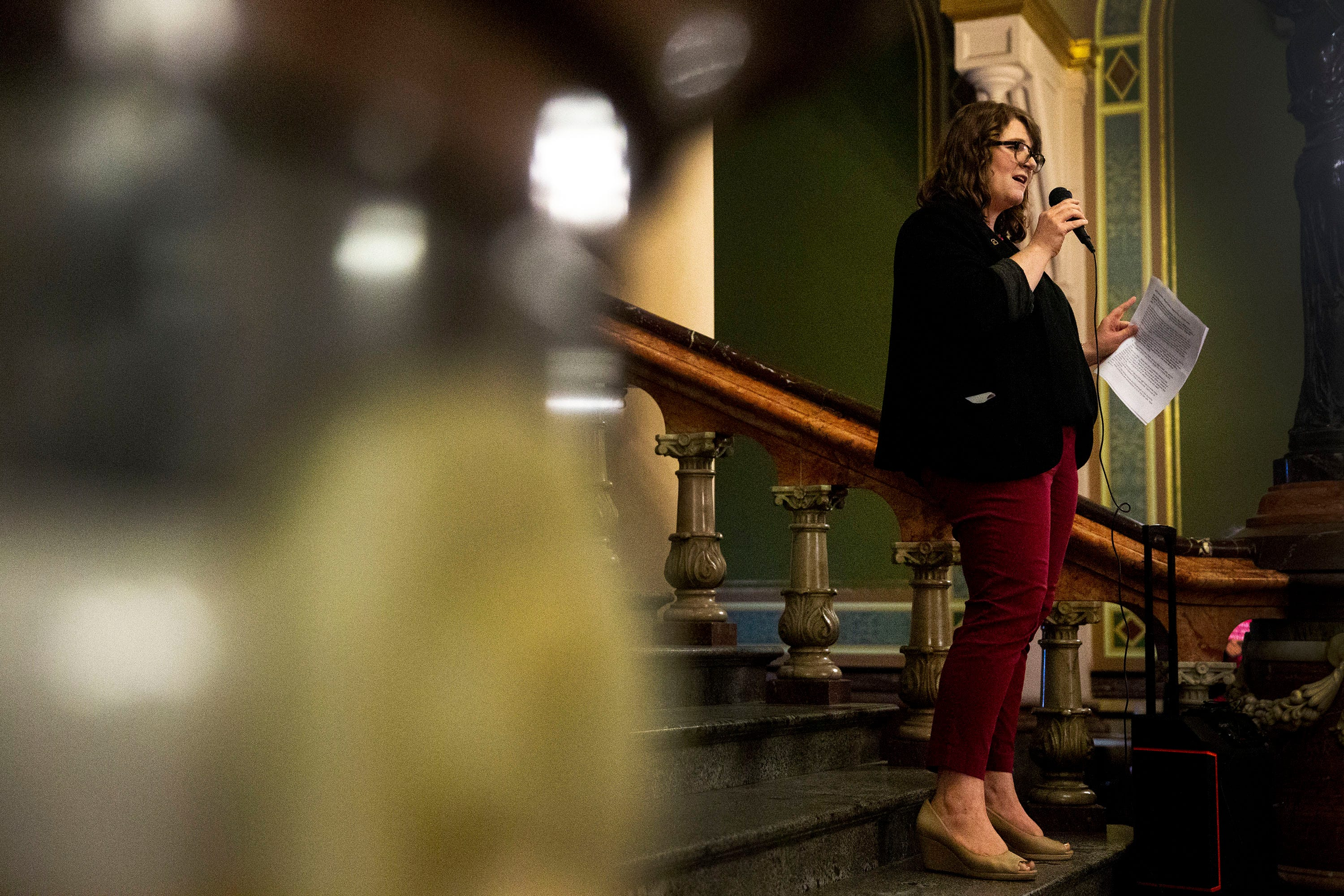 'It's stripping away our rights': In Iowa, crowd gathers to oppose abortion restrictions