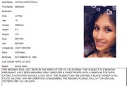 This undated Chicago Police missing person flier shows Marlen Ochoa-Lopez. Ochoa-Lopez, who had gone to a Chicago home in response to a Facebook offer of free baby clothes, was strangled and her baby cut from her womb, police and family members said.
