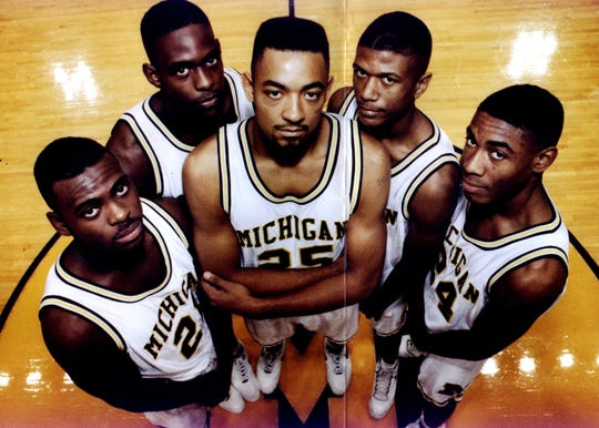 Ray Jackson, Chris Webber, Juwan Howard, Jalen Rose and Jimmy King. The Fab Five