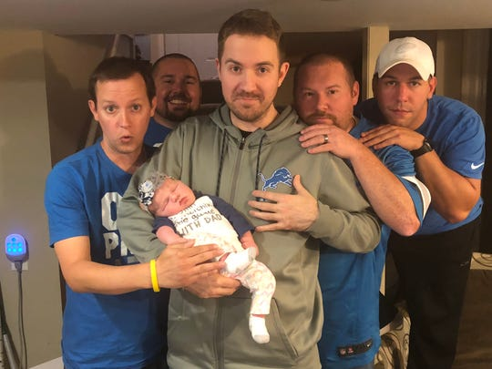 Mitch Davis, 34, of Dearborn watches Lions games with a crew of four to six friends during football season.
