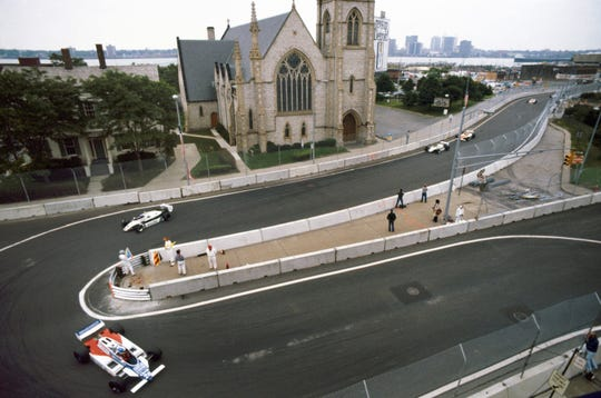 The Detroit Grand Prix began in 1982 as a Formula One race on the streets of downtown Detroit.