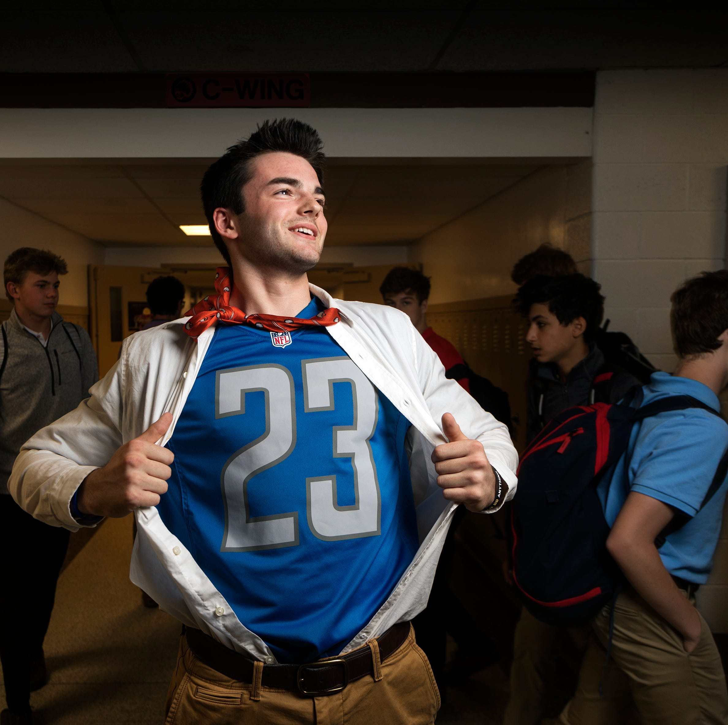 This Brother Rice teen takes Lions superfandom to new level, losses be damned