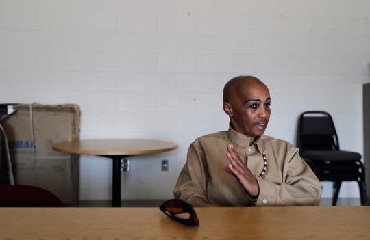 In this May 9, 2019 photo, Cheryl Lidel takes part in an interview with The Associated Press in the Washington Correctional Center in Shelton, Wash.