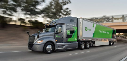 TuSimple's trucks use a camera system allowing the vehicles to view about 3,280 feet ahead.