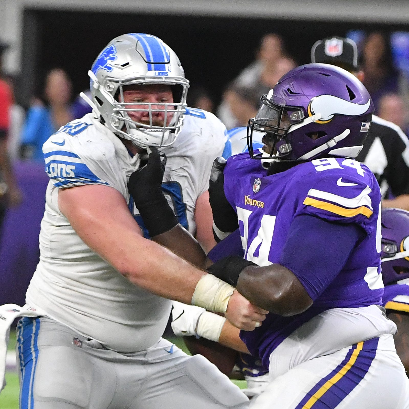 Lions experimenting with new offensive line combination