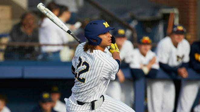 Jordan Brewer, of St. Joseph, was the ninth Michigan player to earn Big Ten player of the year honors, and the first since Nate Recknagel in 2008. He has hit .358, slugged .637, stolen 19 bases and driven in 52 runs and scored 51.