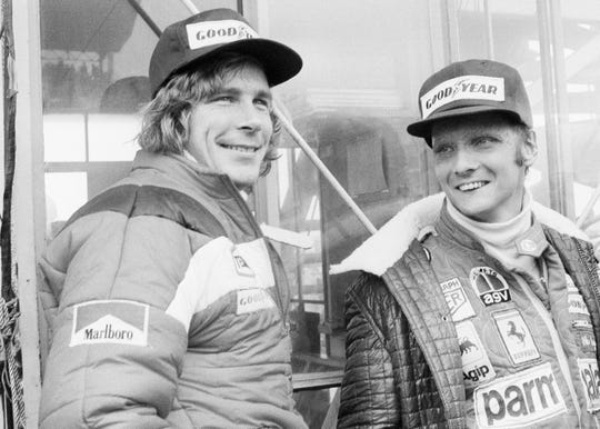 Niki Lauda, right, three-time Formula One world champion, has died.