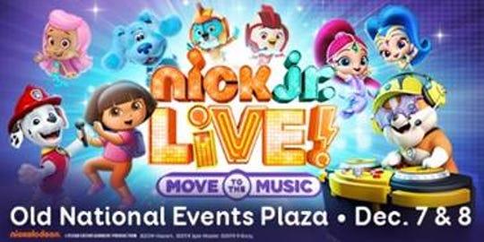 Nick Jr. Live! will be in Evansville at Aiken Theatre in December.