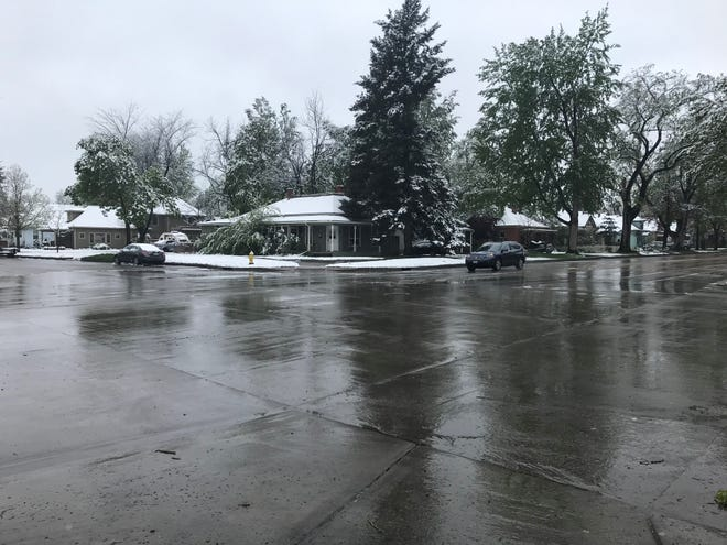Fort Collins got its second May snow overnight into Tuesday morning.