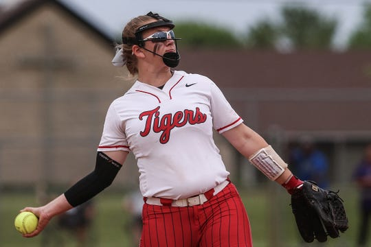 FILE – Fishers pitcher Hannah Mays tossed a gem in Monday's sectional win over Carmel.