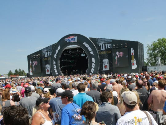 Train and Blues Traveler played the 2018 edition of Carb Day at Indianapolis Motor Speedway.