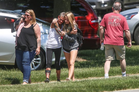 Scene near Noblesville High School on Friday, May 25, 208, after shooting at  Noblesville West Middle School.