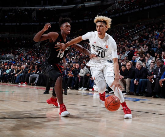 Brian Bowen II participated in the 2018 McDonald's All American game and was headed to Louisville before a recruiting scandal stripped him of his college eligibility.
