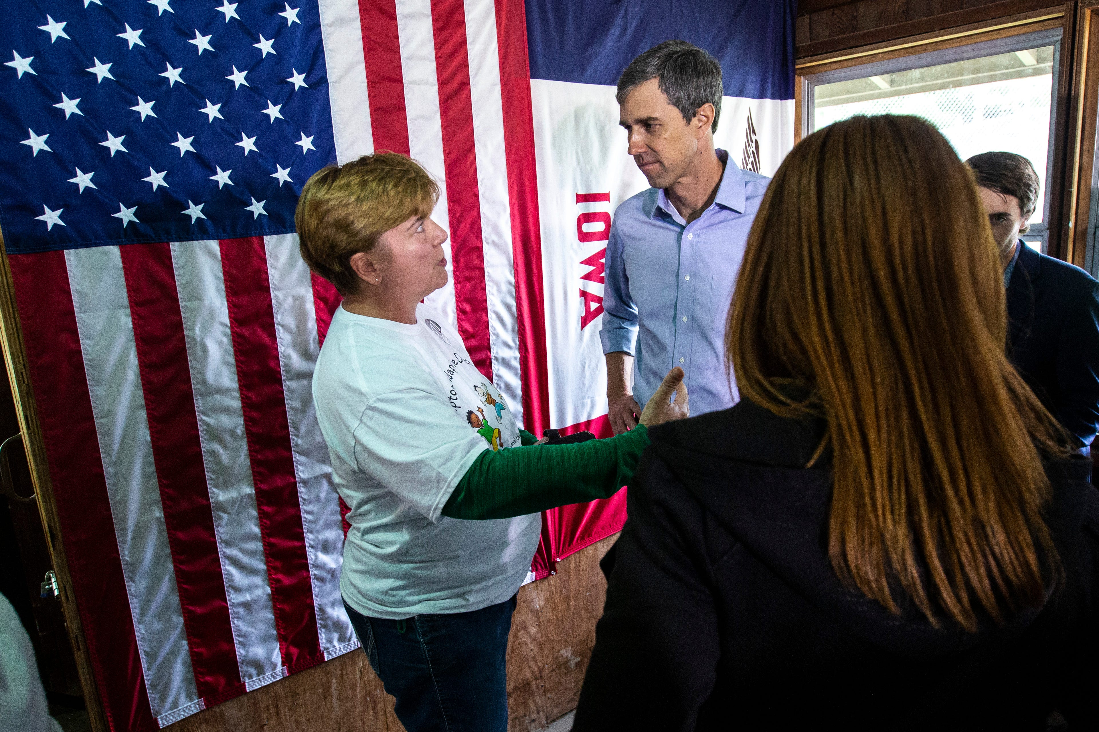 Beto O'Rourke addresses question about childcare during Iowa visit